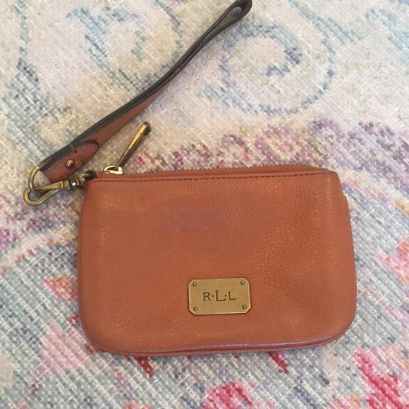 4bb6bceff9d Ralph Lauren Bags | Brown Leather Wristlet Rll | Poshmark